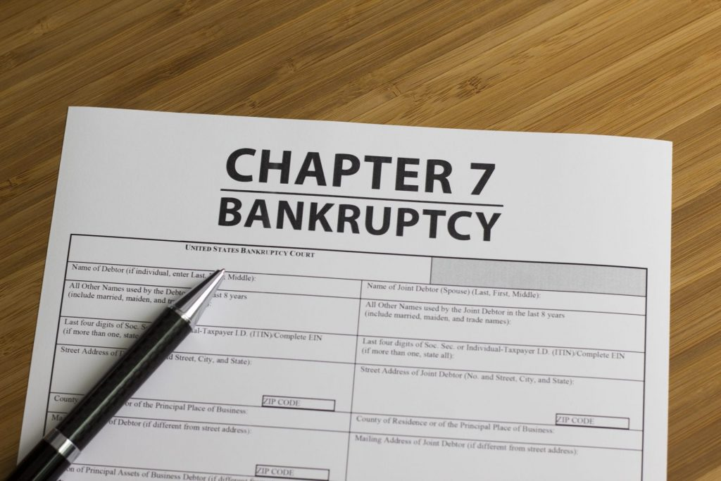 How a Podiatrist can declare bankruptcy